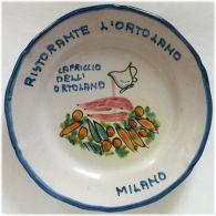 Piatto Buon Ricordo - Milano - Ristorante L'Ortolano - Capriccio - 5F - Obj. 'Souvenir De'