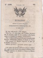 Regio Decreto 1860 - Eugenio - Ospedale Oftalmico Di Torino - Clinica Universita - Vecchi Documenti