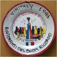 Piatto Buon Ricordo - Vinitaly 1983 - Lo Spumate - Oggetti 'Ricordo Di'