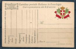 POSTA MILITARE    In Franchigia Storia Postale  Nuova - 1900-44 Vittorio Emanuele III