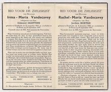 DP Irma Maria VANDECAVEY - Dezittere - Oostkerke - Sint-Kruis Brugge - 1893 / 1957 - Obituary Notices