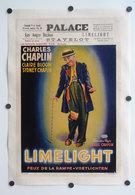 - Feux De La Rampes (Les) - Voetlichten -Limelicht - Chaplin - Affiche Belge De Cinéma Entoilée - Affiches