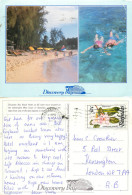 Discovery Bay Beach Hotel, Barbados Postcard Posted 1990 Stamp - Barbados