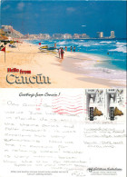 Cancun, Mexico Postcard Posted 2002 Stamp - Mexique
