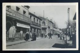 Cpa  D´ Algérie Médéa Rue Gambetta Et Caisse Régionale    JIP48 - Medea