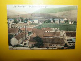 25 CPA PONTARLIER TRICOTERIE ET LES FORGES FAIVRE LOCCA TOILEE COULEUR - Pontarlier
