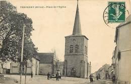 - Allier -ref-B737-  Treignat -  Place De L Eglise -  Carte Bon Etat - - Autres Communes