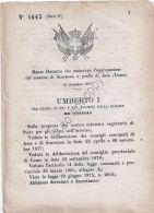 Regio Decreto 1879 - Umberto I - Comune Di Scarenna Aggregato A Asso (Como) - Non Classificati