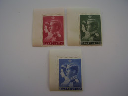 GREECE 1964 ROYAL WEDDING  ISSUE THREE Stamps To D4.50  MNH. - Greece