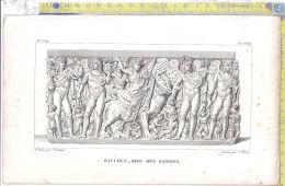 Litografia - Baccus - Dieu Des Saisons - .XIX  Secolo - Incisioni