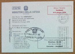 Storia Postale - Italia 1978 - Ministero Difesa - Crociera Vespucci - Elicottero - Italia
