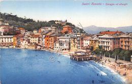Cartolina - Postcard - Illustrata - Sestri Levante - Spiaggia E Alberghi - '30 - Italia
