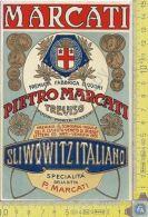 Etichetta - Label - Sliwowitz Italiano - Pietro Marcati - Treviso - Anni 60/70 - Publicidad