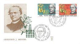 FDC ALA - Vaticano 1984 - Centenario Della Morte Del Biologo Abate Mendel - NVG - FDC