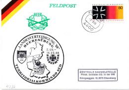 "(BWFP2) BRD-Bundeswehr, Feldpost-Sonderumschlag ""Heeresübung LANDESVERTEIDIGUNG ´88"" 3.9.1988 Feldpost 4400 - [7] Repubblica Federale"
