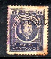 T1446 - HONDURAS , Yvert N. 141  Usato . - Honduras