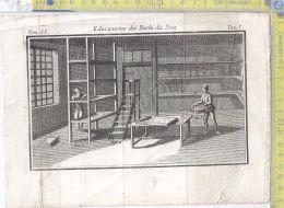 Litografia - Educazione Dei Bachi Da Seta - Tav I - .XIX  Secolo - Incisioni