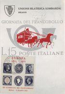 Cartolina - Postcard - Maximum - 3 Giornata Del Francobollo - Milano - 1961 - Italia
