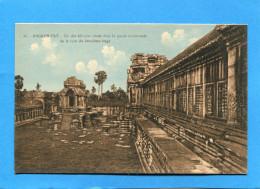 CAMBODGE-ANGKOR-VAT-un Des édicules De La Partie Occidentale-années  1920-30- - Cambodge