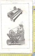 Litografia - Meccanica - Tav VI - .XIX  Secolo - Incisioni