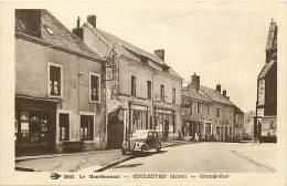 - Allier -ref-B723-  Couleuvre - Grande Rue - Cafe De Lunion - Cafes - Hotel De France - Hotels - Charcuterie - Magasin - Francia