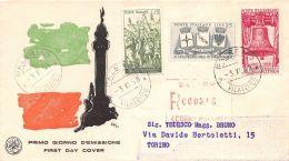 FDC Saniaf - Italia 1958 - 40? Anniversario Della Vittoria - Raccomandata Viagg. - 6. 1946-.. República