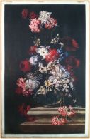 Edizioni Beatrice D'Este N.1282 -  Fiori - Flowers - Stampa Su Seta - Print Silk - Incisioni