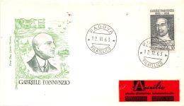 FDC Roma - Italia 1963 - Gabriele D'Annunzio - NVG - Annullo Padova Filatelico - 6. 1946-.. República