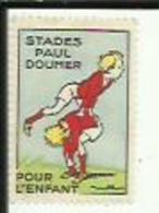 1 Timbre Publicitaire Des Stades Paul_Doumer__Pour L'Enfant - Commemorative Labels