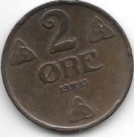 Norway 2 Ore 1913  Km 371  Vf+ - Norvège