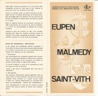 FOLDER  POSTE BELGE TP N° 1566 EUPEN MALMEDY SAINT-VITH AVEC CACHET POSTAL FDC DE BRAINE L'ALLEUD (2 SCANS) - Documentos Del Correo