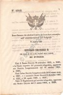 Regio Decreto 1869 - Vittorio Emanuele II - Restauratore Regie Gallerie Firenze - Vecchi Documenti