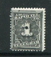 ETATS UNIS- Télégraphe Y&T N°52- Neuf Avec Charnière * - Telegraph Stamps