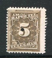 ETATS UNIS- Télégraphe Y&T N°54- Neuf Avec Charnière * - Telegraph Stamps