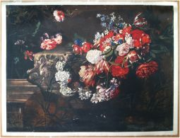 Edizioni Beatrice D'Este N.1281 -  Fiori - Flowers - Stampa Su Seta - Print Silk - Incisioni