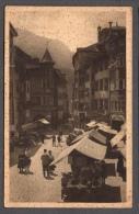 1934 BOLZANO PIAZZA DELLE ERBE FP V SEE 2 SCANS ANIMATA MERCATO Lieve Piega - Bolzano