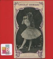 Chocolat Grondard  Chromo Verger Danseuse Maquillage Poudre Avant Le Ballet - Non Classificati