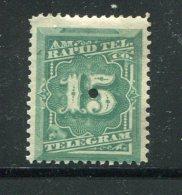 ETATS UNIS- Télégraphe Y&T N°56- Neuf Avec Charnière * - Telegraph Stamps