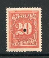 ETATS UNIS- Télégraphe Y&T N°57- Neuf Avec Charnière * - Telegraph Stamps