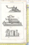 Litografia - Meccanica - Tav I - .XIX  Secolo - Incisioni