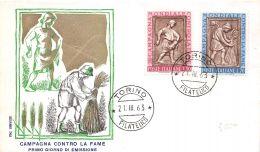 FDC Service - Italia - 1963 - Campagna Contro La Fame - NVG - Annullo Torino - 6. 1946-.. Republic
