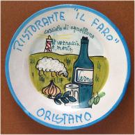 Piatto Buon Ricordo - Oristano - Il Faro - Cosciotto Di Agnellone - R92 - Obj. 'Souvenir De'
