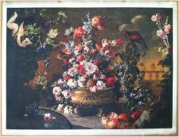 Edizioni Beatrice D'Este N.1280 -  Fiori - Flowers - Stampa Su Seta - Print Silk - Incisioni