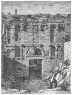 Incisione Engraving Spalato Palazzo Di Diocleziano 1877 - Illustrazione Italiana - Incisioni