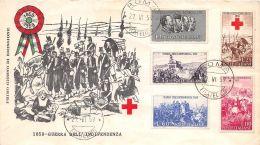 FDC Milvio - Italia 1959 - Serie  II Guerra Di Indipendenza - NVG - Roma - 6. 1946-.. Republic