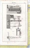 Litografia - Meccanica - Tav IV - .XIX  Secolo - Incisioni