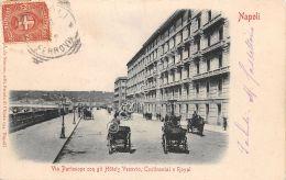Cartolina - Postcard - Napoli - Via Partenope - Animata - Carrozze -  1900 Cca - Non Classés