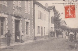 40-SAUBUSSE-LES-BAINS-Grand'Rue 1912  Animé  Attelage... - France