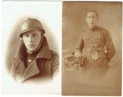 Carte Photo. Militaria. Soldat. Militaire En Uniforme. Lot De 2. - Guerre, Militaire
