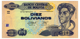 BOLIVIA 10 BOLIVIANOS 1986(2015) SERIES J Pick 228 Unc - Bolivia